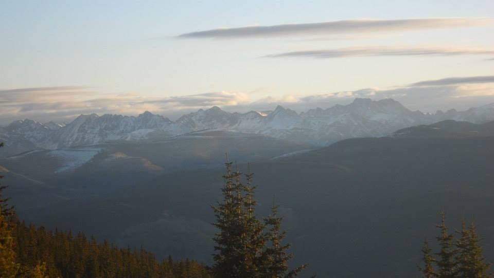 Morning light over the Sawatch Range. Photo taken from Notch Mountain.