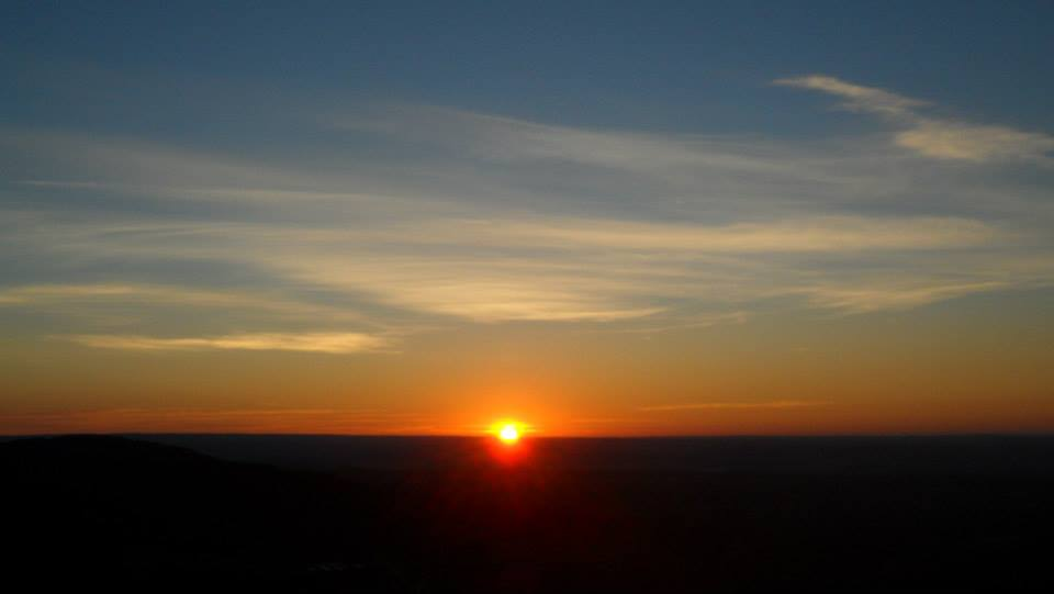 A Colorado sunrise as seen from Barr Trail.