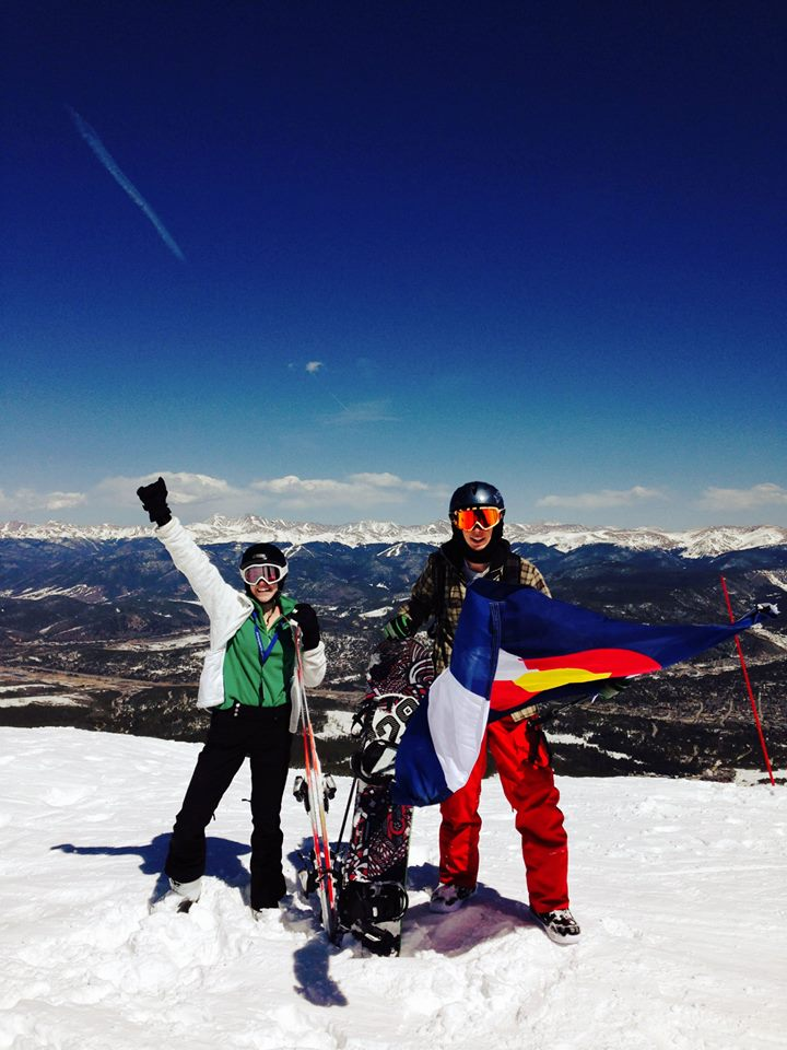 On top of the world. Rather, on top of Breckenridge Ski Resort's Peak 7!