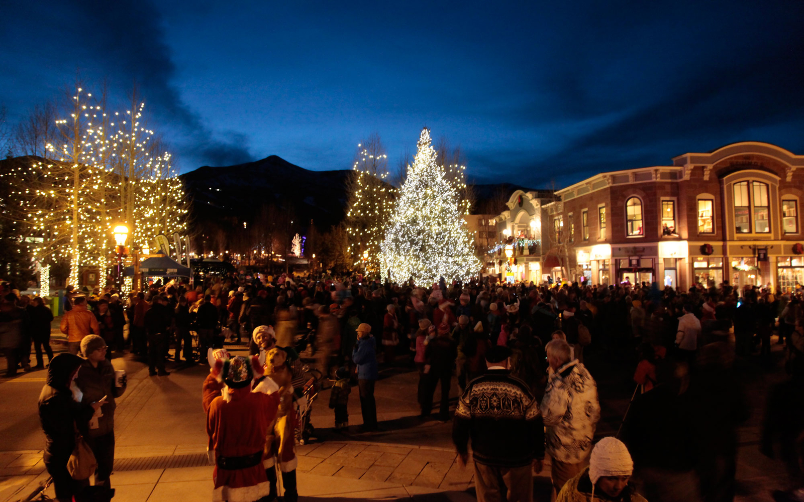 Santa Clause is Coming for the Lighting of Breckenridge • Ski ...