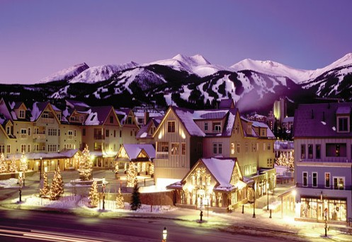 Christmas In Colorado Mountains.Fresh Snow For Christmas Day In Breckenridge